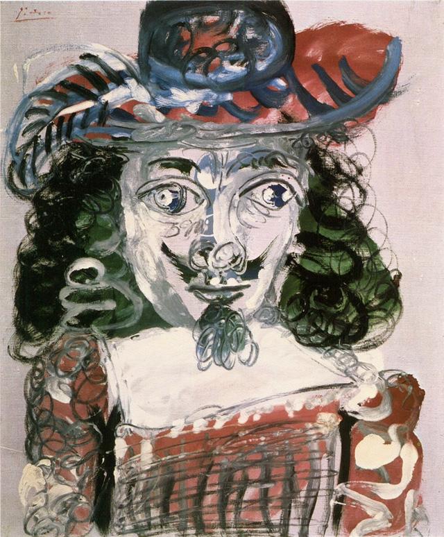 Картина Пабло Пикассо. Мушкетер: бюст. 1967