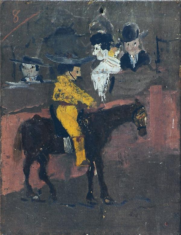 Картина Пабло Пикассо. Желтый пикадор. 1889