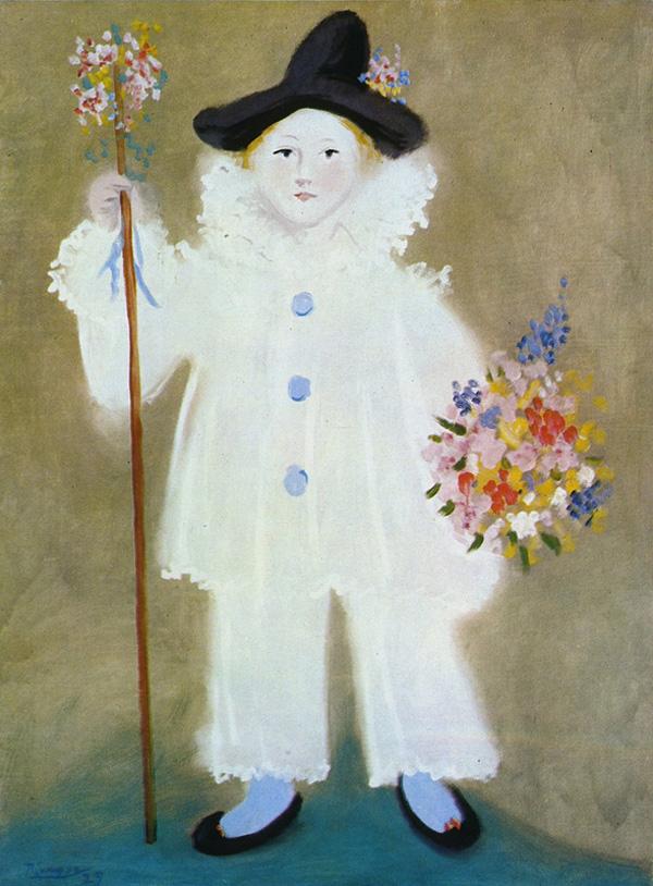 Картина Пабло Пикассо. Портрет Пауло в костюме Пьеро. 1929