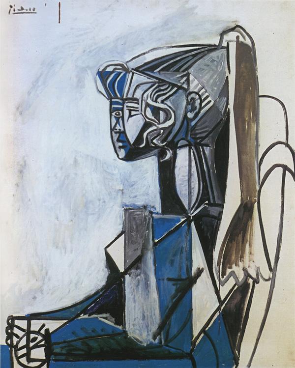 Картина Пабло Пикассо. Сильветт 3. 1954