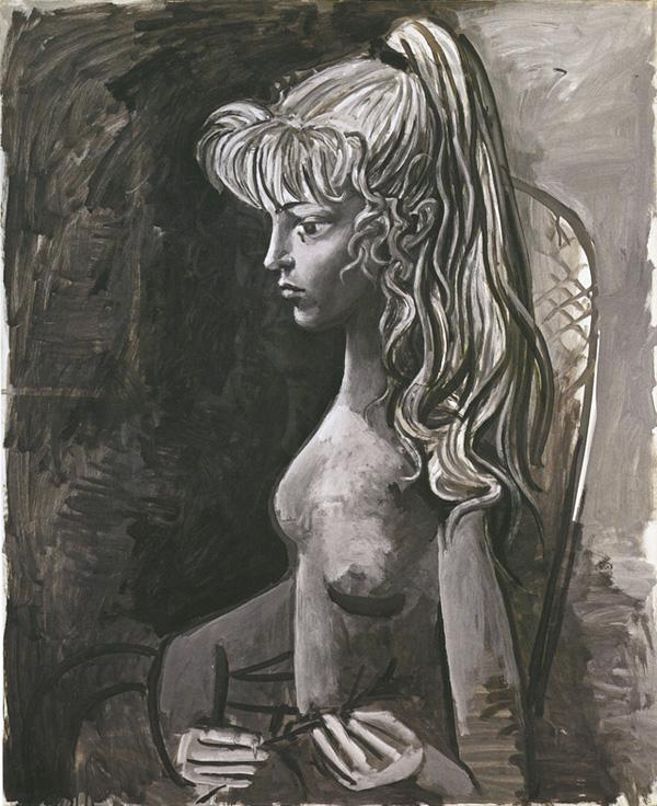 Картина Пабло Пикассо. Сильветт (Портрет мадемуазель Д.). 1954