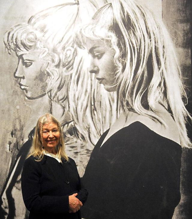 Фото 80-летней Сильветт Давид на выставке в Бремене весной 2014. 1954