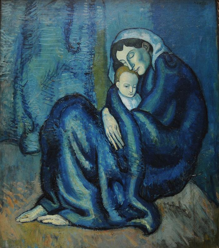 Картина Пабло Пикассо. Мать и дитя. 1901