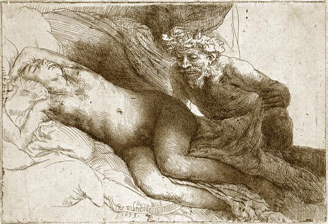 Рембрандт ван Рейн. Юпитер и Антиопа. 1659