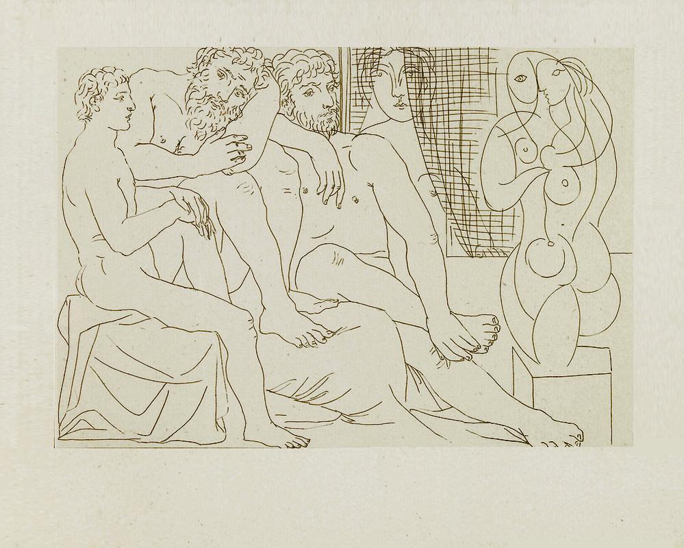 Картина Пабло Пикассо. Сюита Воллара (016). Скульпторы, модели и скульптура. 1933