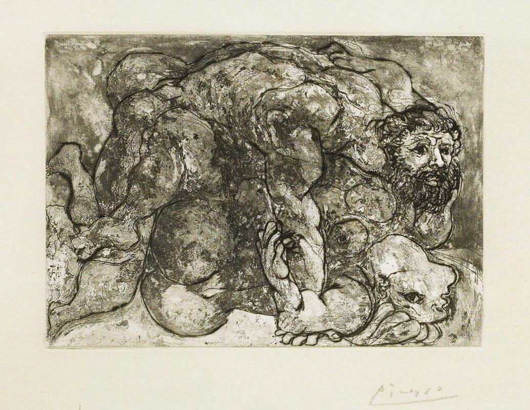 Картина Пабло Пикассо. Сюита Воллара (069). Изнасилование. 1933