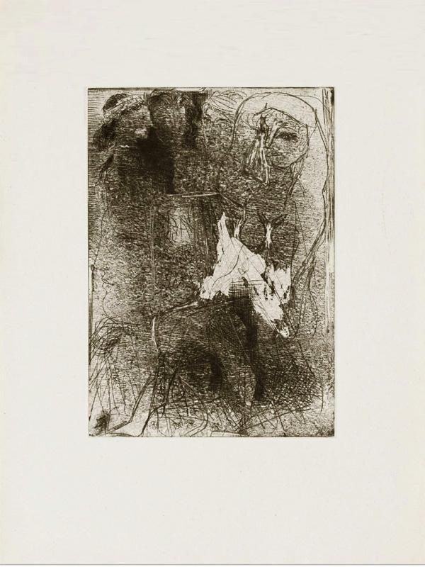 Картина Пабло Пикассо. Сюита Воллара (078). Головы и фигуры. 1934