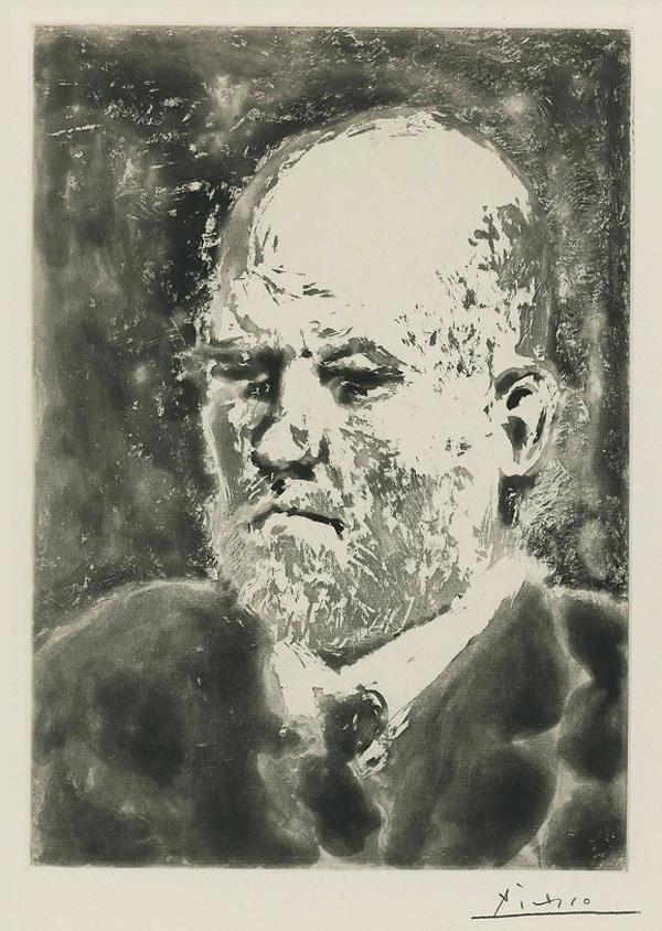 Картина Пабло Пикассо. Сюита Воллара (098). Портрет Воллара 1. 1937
