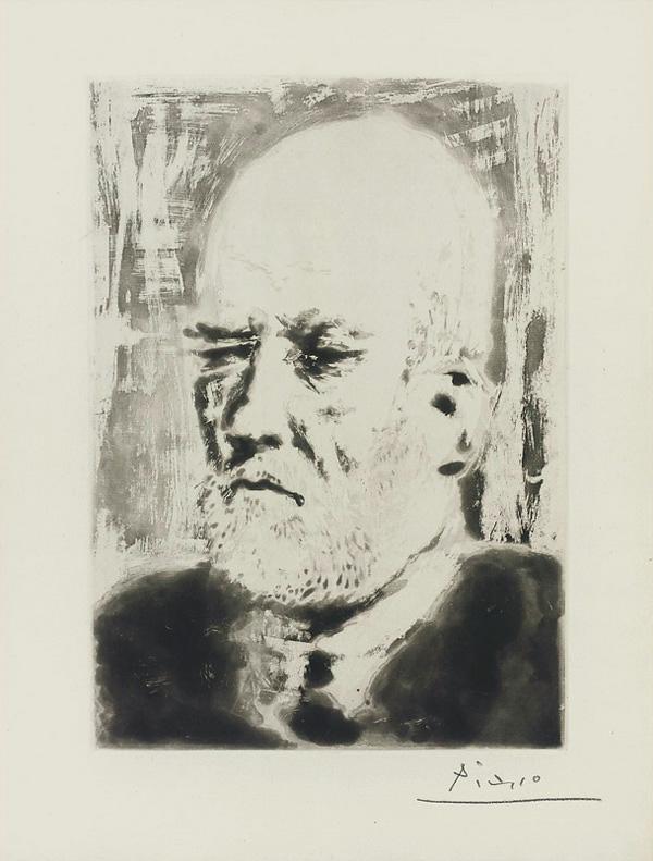 Картина Пабло Пикассо. Сюита Воллара (099). Портрет Воллара 2. 1937