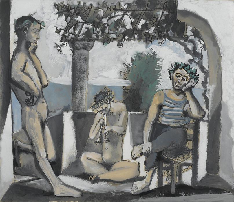 Картина Пабло Пикассо. Отдых фавна (Вакханалия). 1956