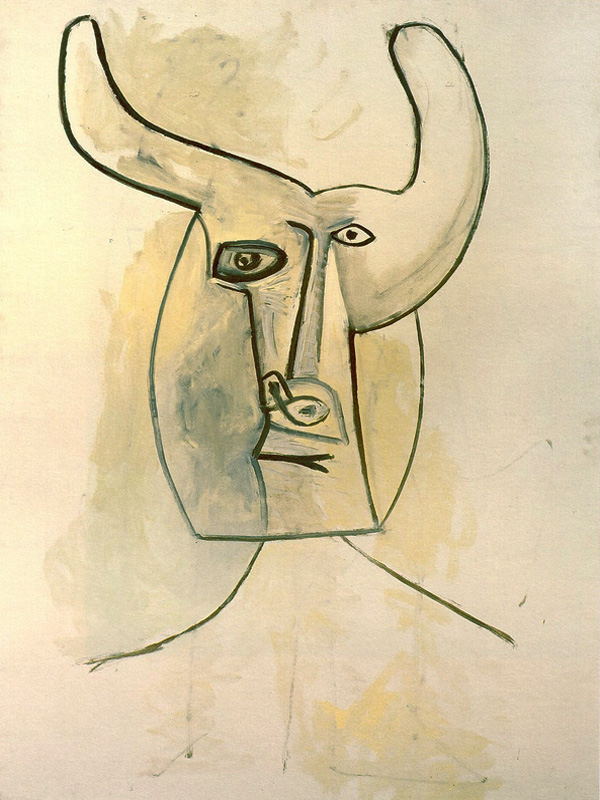 Картина Пабло Пикассо. Минотавр 2. 1958