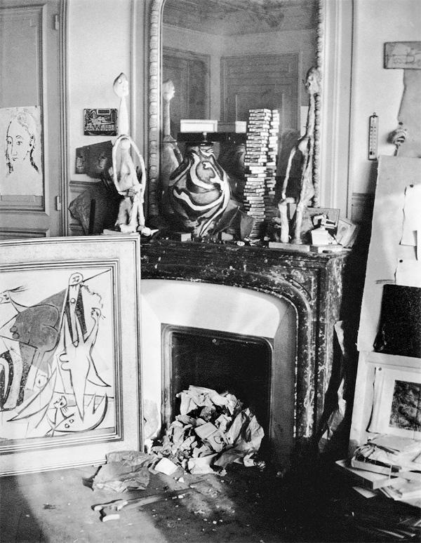 Мастерская Пикассо на улице Боэти, Париж, 1932. Брассай, фото 1