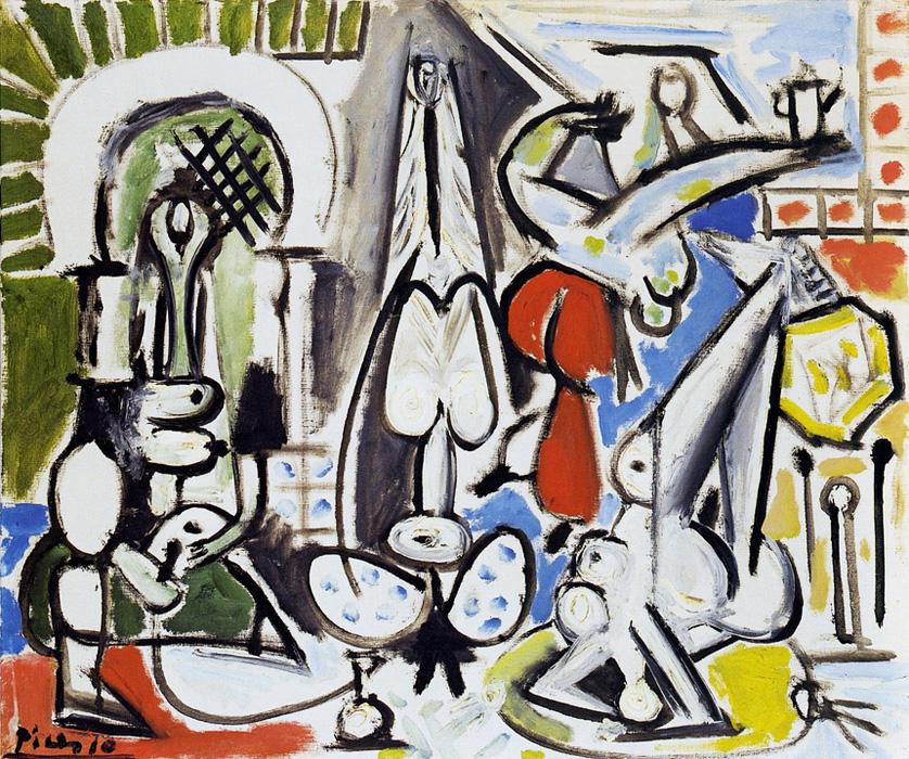 Картина Пабло Пикассо. Алжирские женщины, версия C (3). 28 декабря 1954