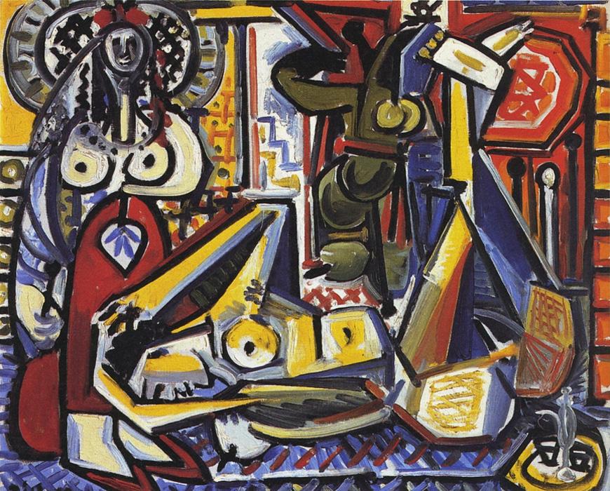 Картина Пабло Пикассо. Алжирские женщины, версия F (6). 17 февраля 1955