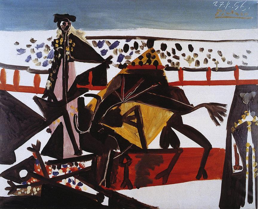 Картина Пабло Пикассо. Passe de cape. 1956