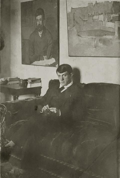Автопортрет, улица Шольшер, 5, Париж, 1915-1916. Фото Пабло Пикассо