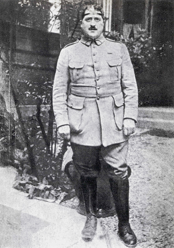 Гийом Аполлинер в военной форме, Париж, ок. 1916