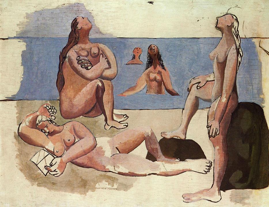 Картина Пабло Пикассо. Купальщицы, глядящие на самолет. 1920