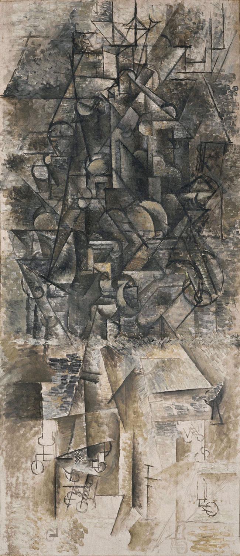 Картина Пабло Пикассо. Человек с мандолиной. 1911