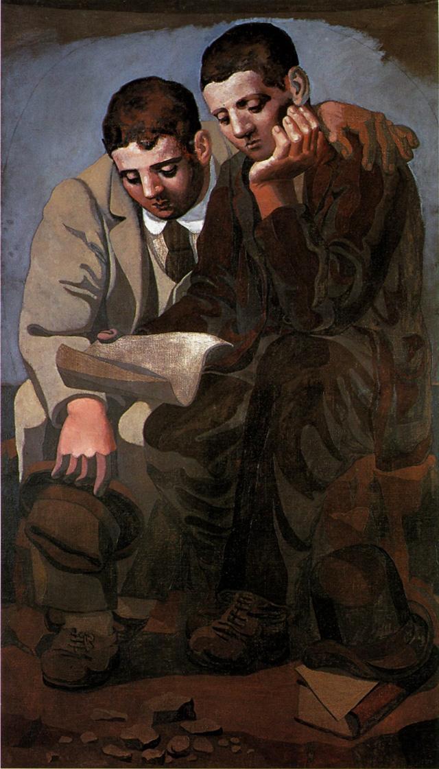 Картина Пабло Пикассо. Чтение письма. 1921