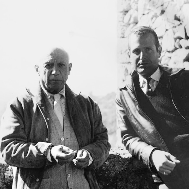 Picasso and John Richardson, Vauvenargues, 1959