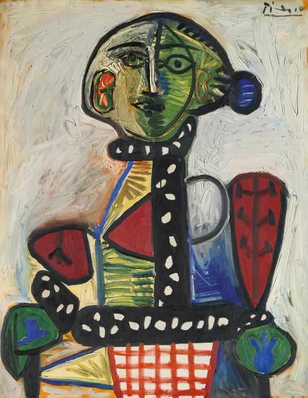 Картина Пабло Пикассо. Женщина с шиньоном в кресле. 1948 ($29,93 млн)