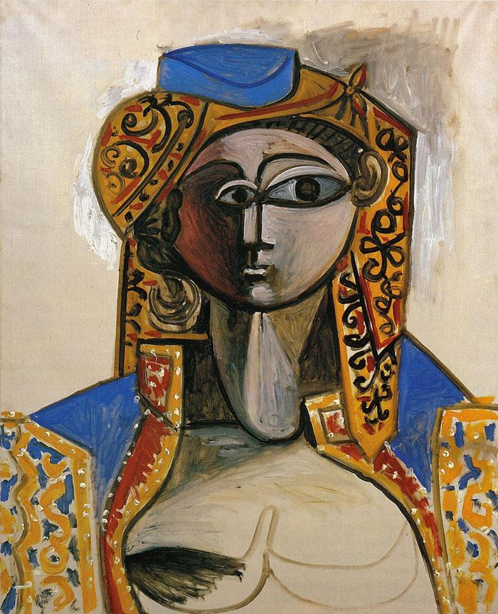 Картина Пабло Пикассо. Жаклин в турецком костюме (Восточная женщина). 1955