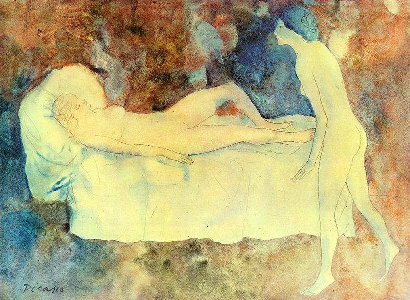 Картина Пабло Пикассо. Подружки. 1904