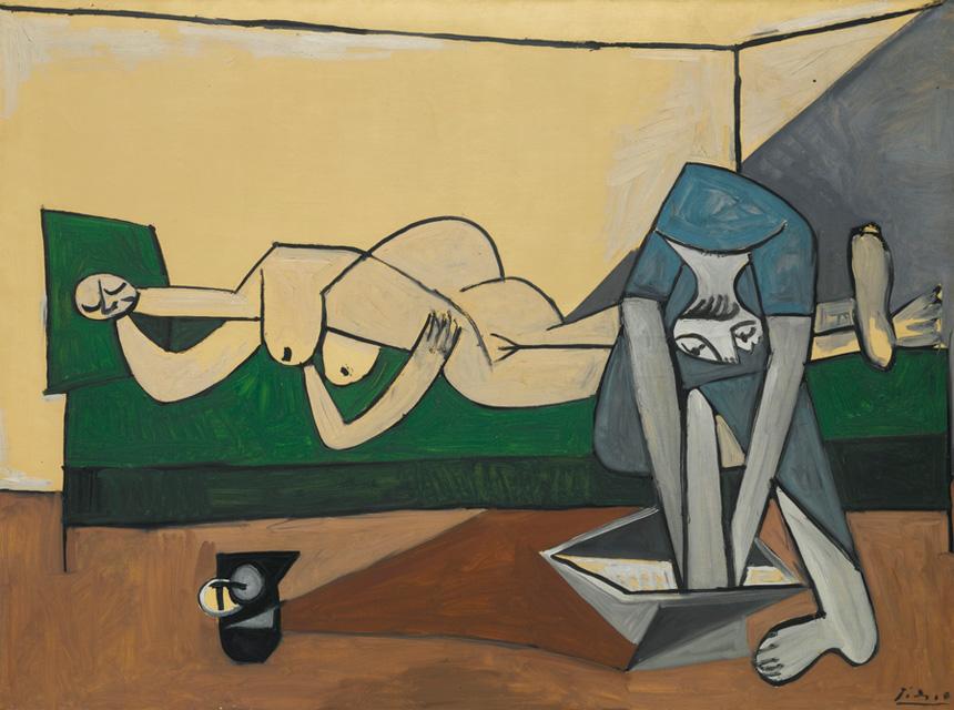 Картина Пабло Пикассо. Женщина лежащая и женщина, моющая ноги. 1944 ($10,33 млн)