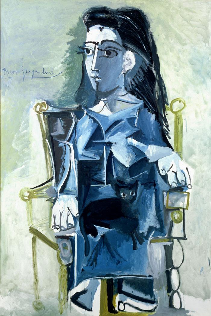 Картина Пабло Пикассо. Жаклин сидящая в кресле. 1964