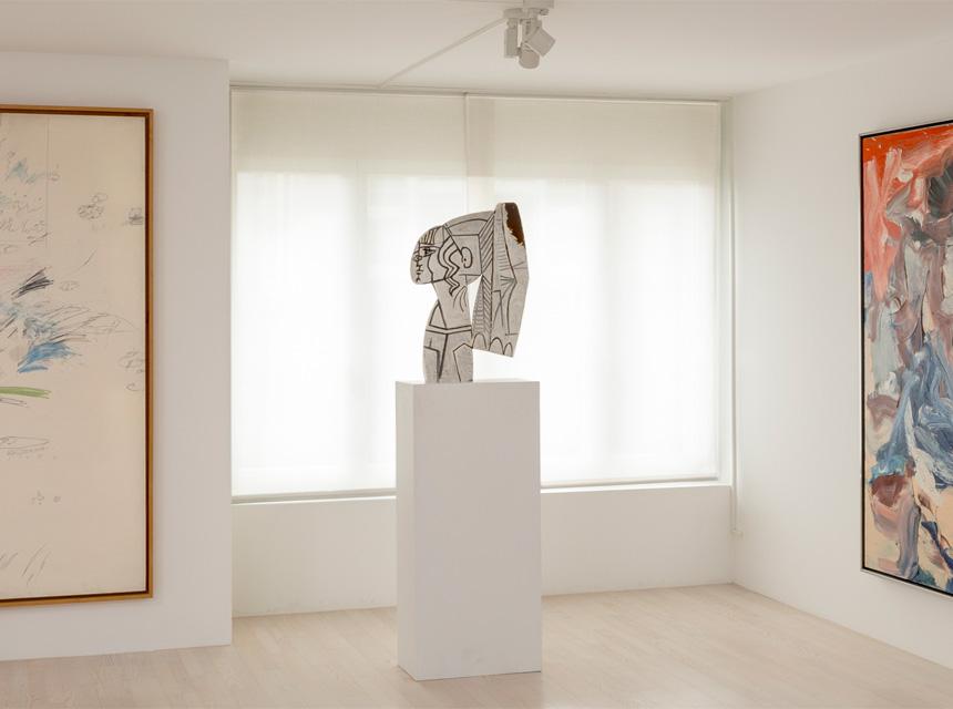 Скульптура Сильветт (раскрашенный металл) в частной коллекции Fondation Hubert Looser, Zürich