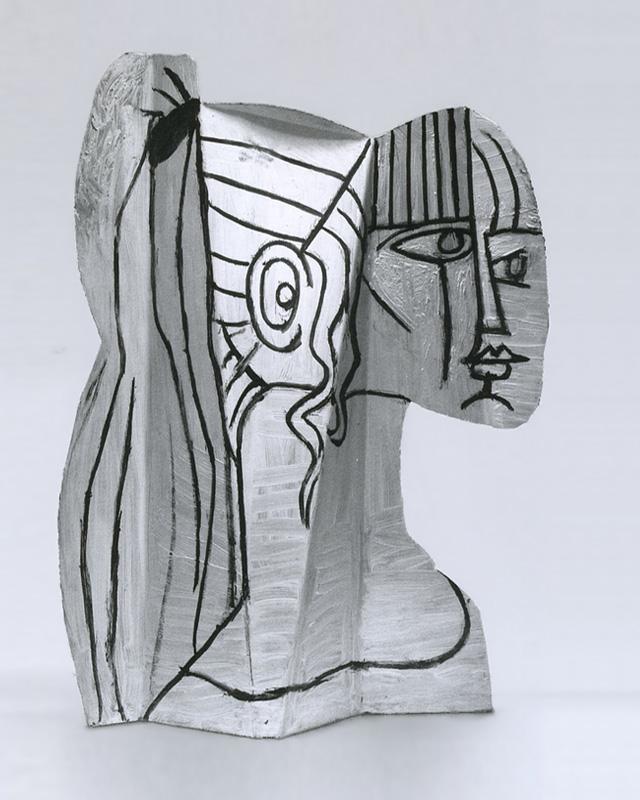 Картина Пабло Пикассо. Скульптура Сильветт (2), раскрашенный металл. 1954