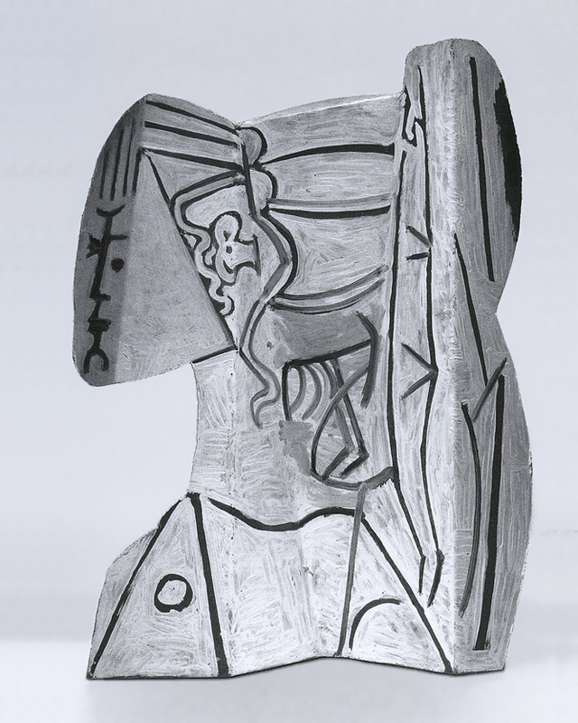 Скульптура Сильветт, выполненная Пикассо в 1954, вид с другого ракурса