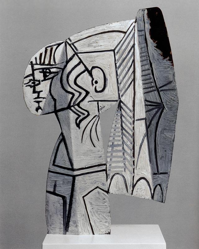 Картина Пабло Пикассо. Скульптура Сильветт (3), раскрашенный металл. 1954