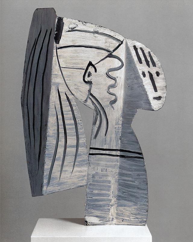 Скульптура Сильветт, сделанная Пикассо в 1954 году из листового металла, разрисованного поверху
