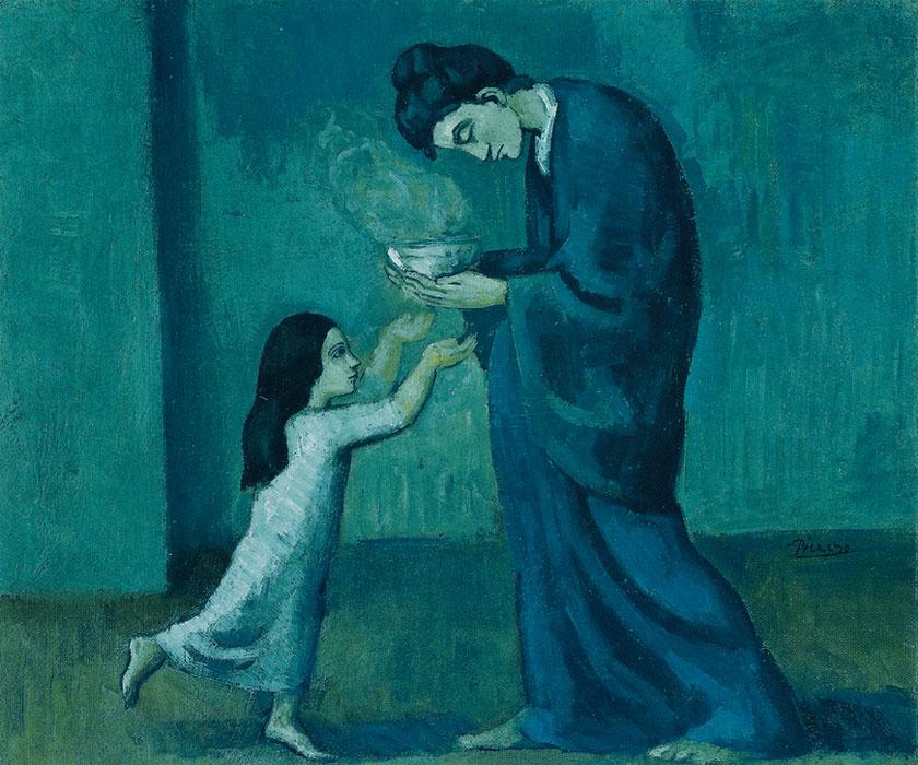 Картина Пабло Пикассо. Суп. 1902