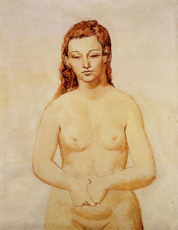 Картина Пабло Пикассо. Обнаженная со сложенными руками. 1906