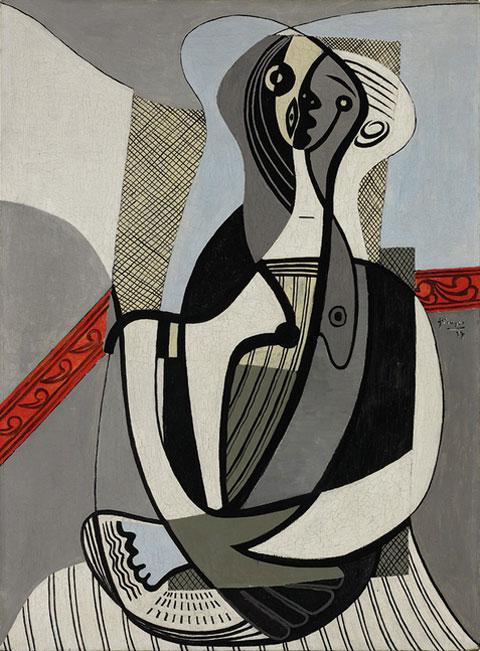 Картина Пабло Пикассо. Сидящая женщина. 1927
