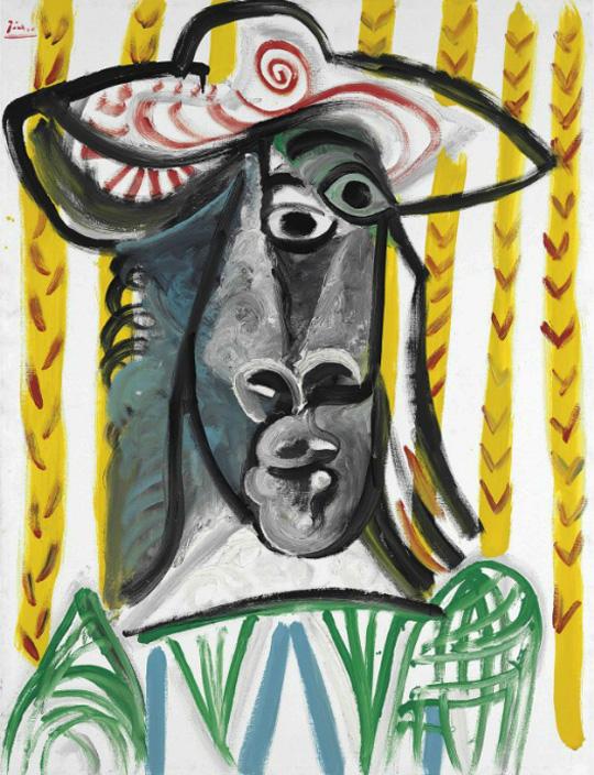 Картина Пабло Пикассо. Голова (мушкетера). 1969 ($7,03 млн)