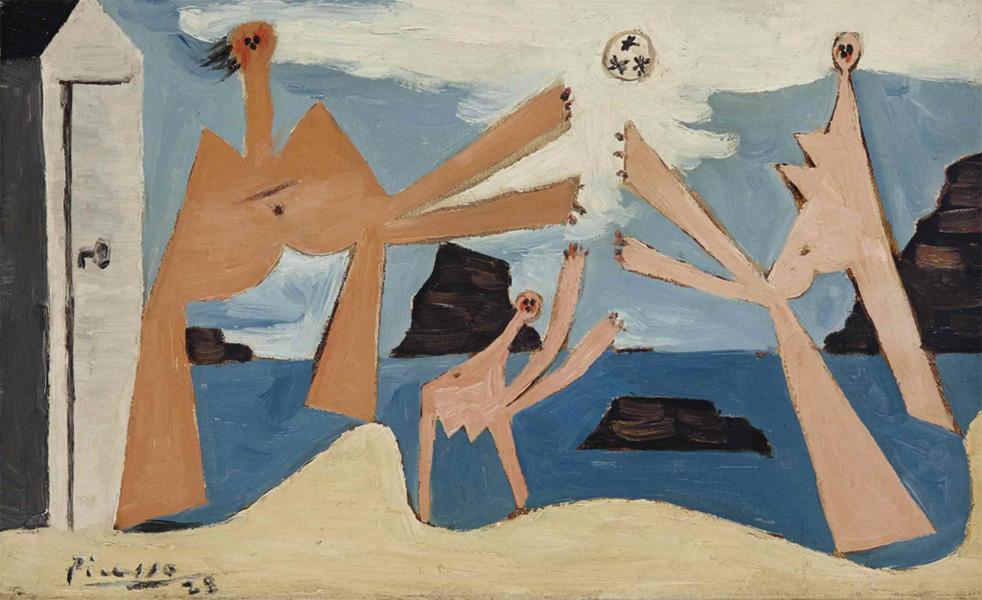 Картина Пабло Пикассо. Купальщицы с мячом. 1928 ($3,52 млн)