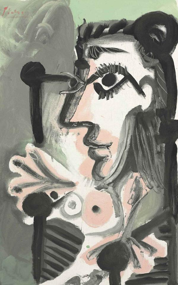 Картина Пабло Пикассо. Сидящая женщина, бюст. 1964 ($2,17 млн)