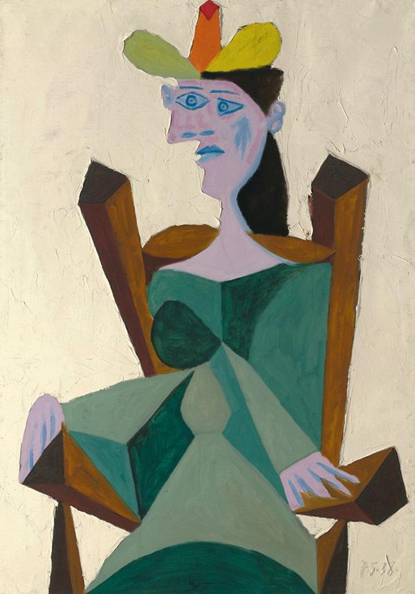 Картина Пабло Пикассо. Женщина, сидящая в кресле. 1938 ($20,07 млн)
