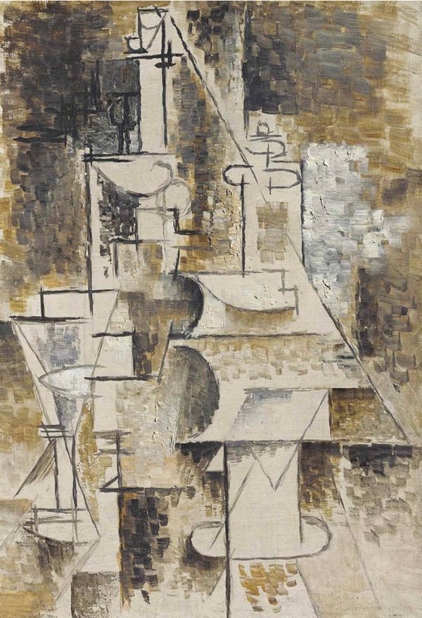 Картина Пабло Пикассо. Графин (Бутылка и рюмка). 1911 ($10,47 млн)