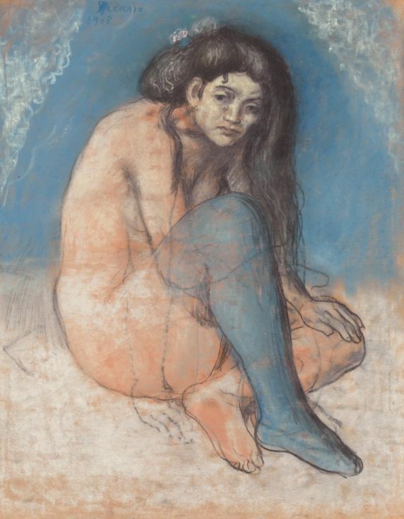 Картина Пабло Пикассо. Обнаженая со скрещенными ногами. 1903 ($12,01 млн)