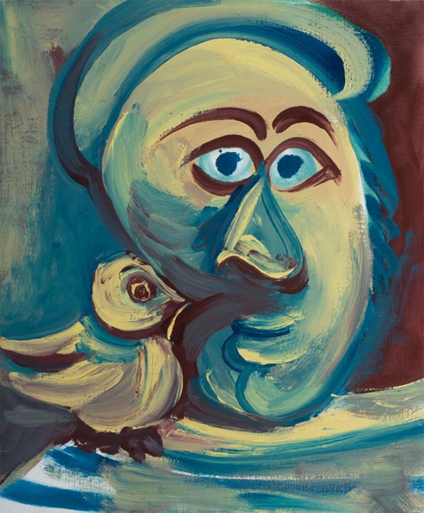 Картина Пабло Пикассо. Голова и птица. 1968 ($2,23 млн)