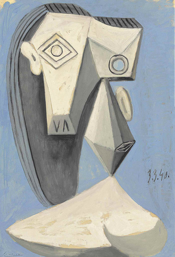 Картина Пабло Пикассо. Голова женщины. 1940 ($3,75 млн)