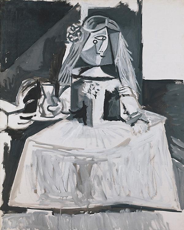 Картина Пабло Пикассо. Менины (Инфанта Маргарита Мария). Интерпретация № 4. 21 августа 1957