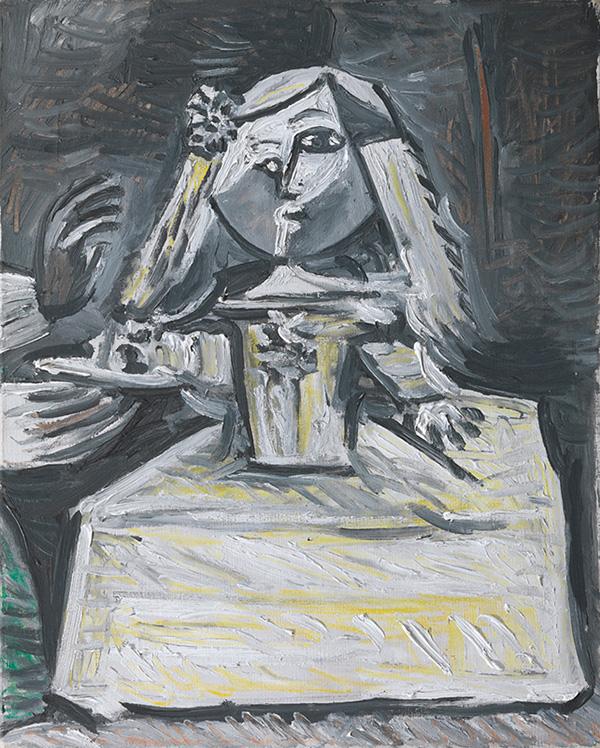 Картина Пабло Пикассо. Менины (Инфанта Маргарита Мария). Интерпретация № 6. 26 августа 1957