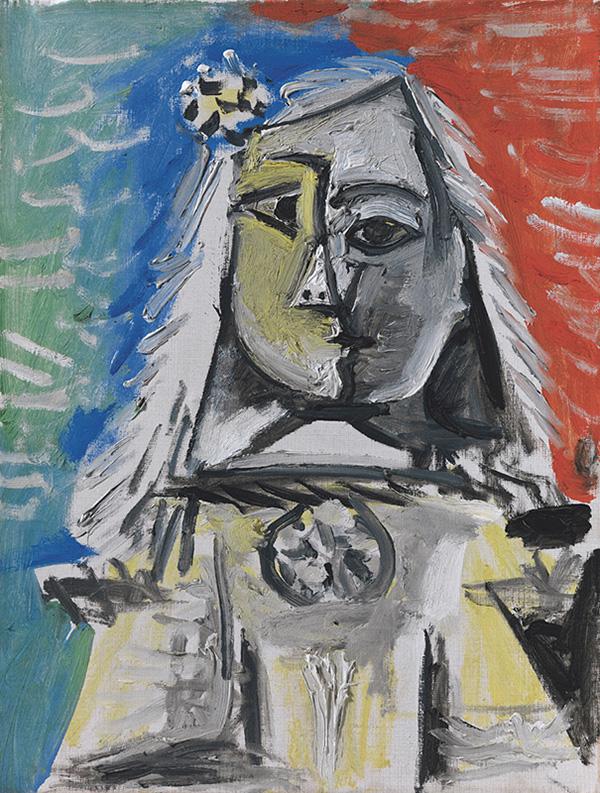 Картина Пабло Пикассо. Менины (Инфанта Маргарита Мария). Интерпретация № 12. 4 сентября 1957