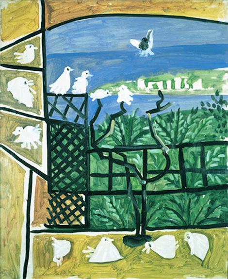 Картина Пабло Пикассо. Голуби (1). 6 сентября 1957